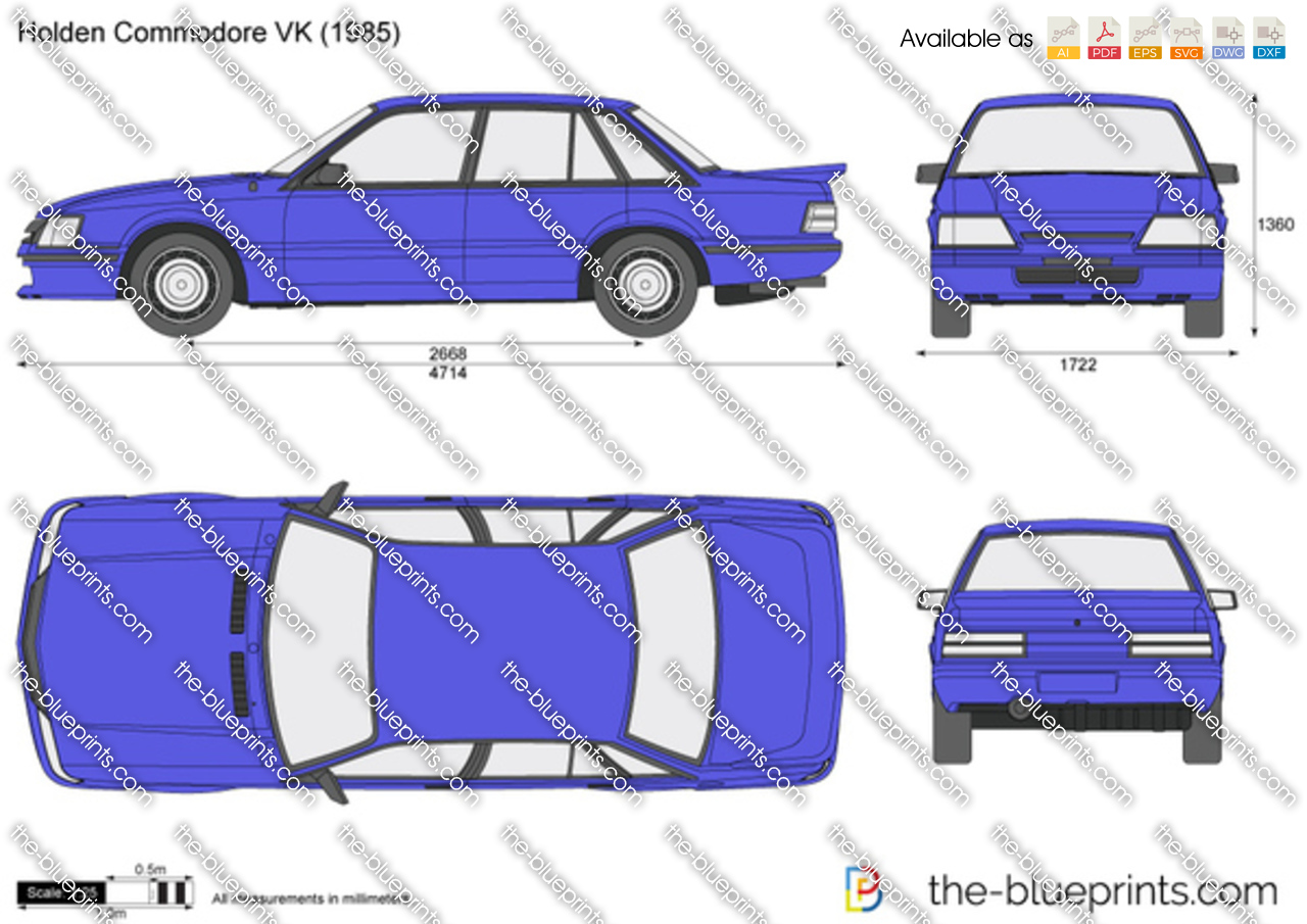 Holden Commodore Vk Vector Drawing