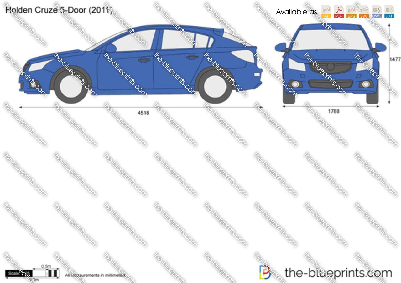 The Blueprints Com Vector Drawing Holden Cruze 5 Door