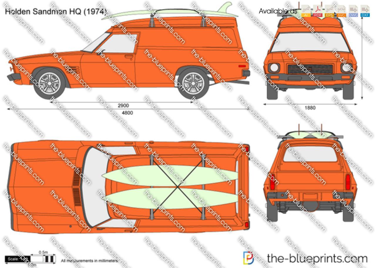 Holden Sandman Hq Vector Drawing