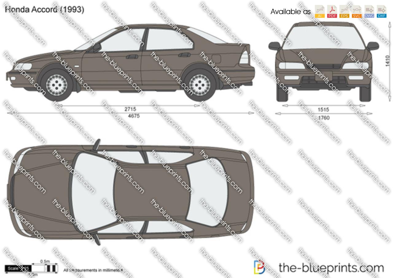 The Blueprints Com Vector Drawing Honda Accord