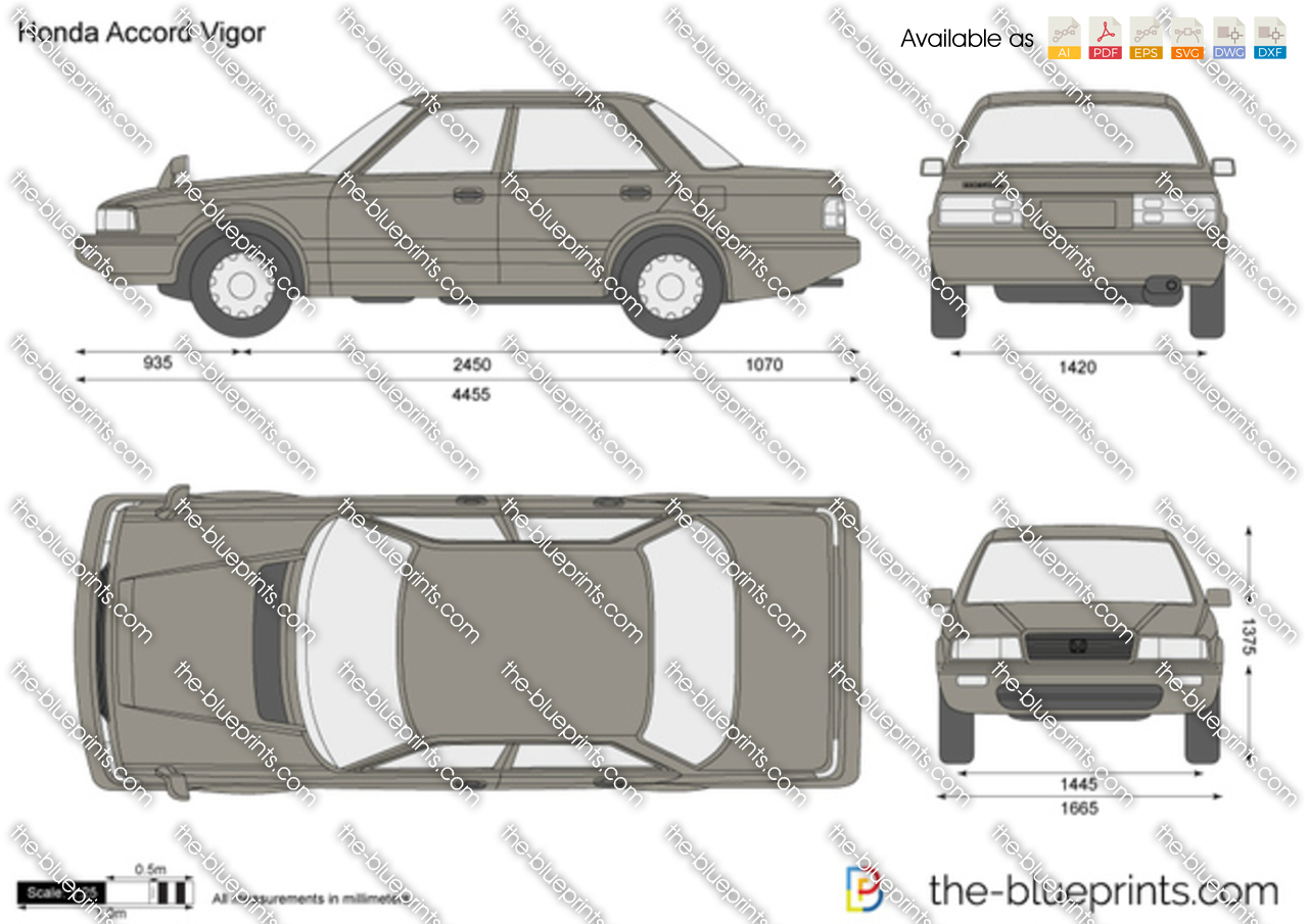The Blueprints Com Vector Drawing Honda Accord Vigor