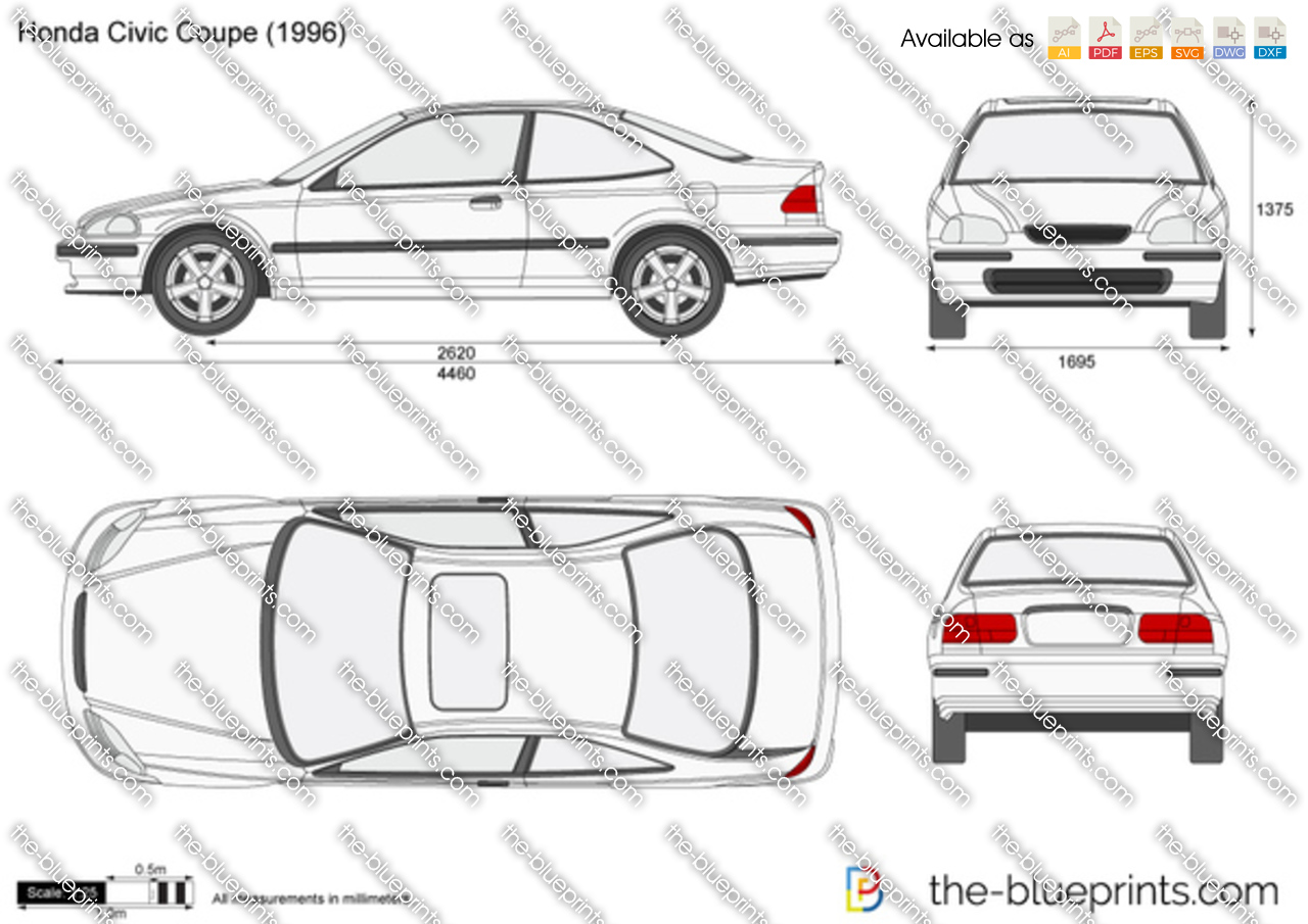 The Blueprints Com Vector Drawing Honda Civic Coupe