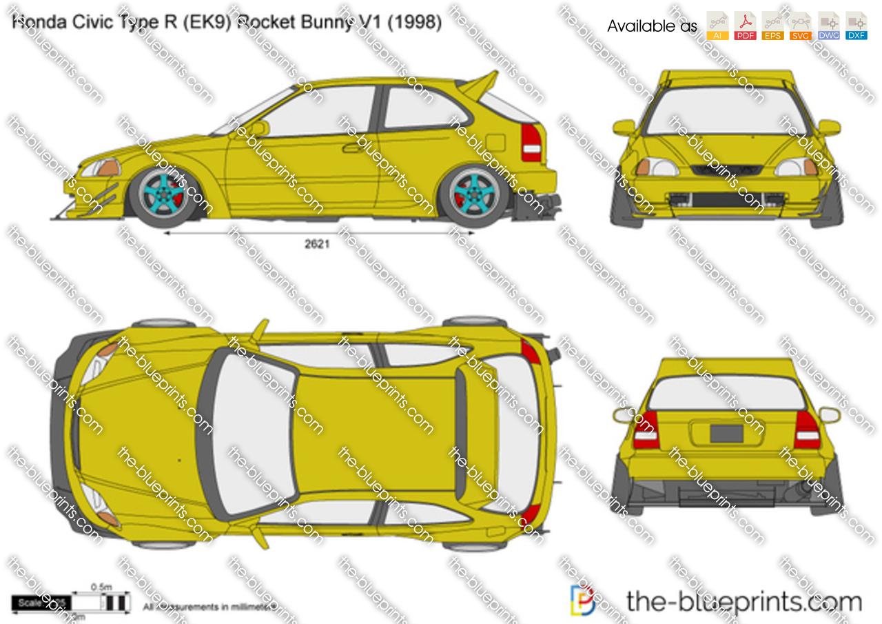 Honda Civic Type R (EK9) Rocket Bunny V1