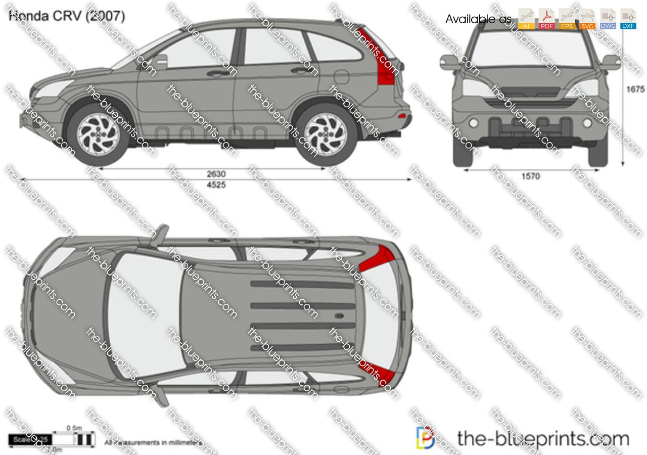 Honda Crv Vector Drawing