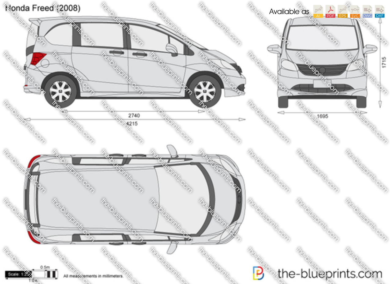 Honda Freed Vector Drawing
