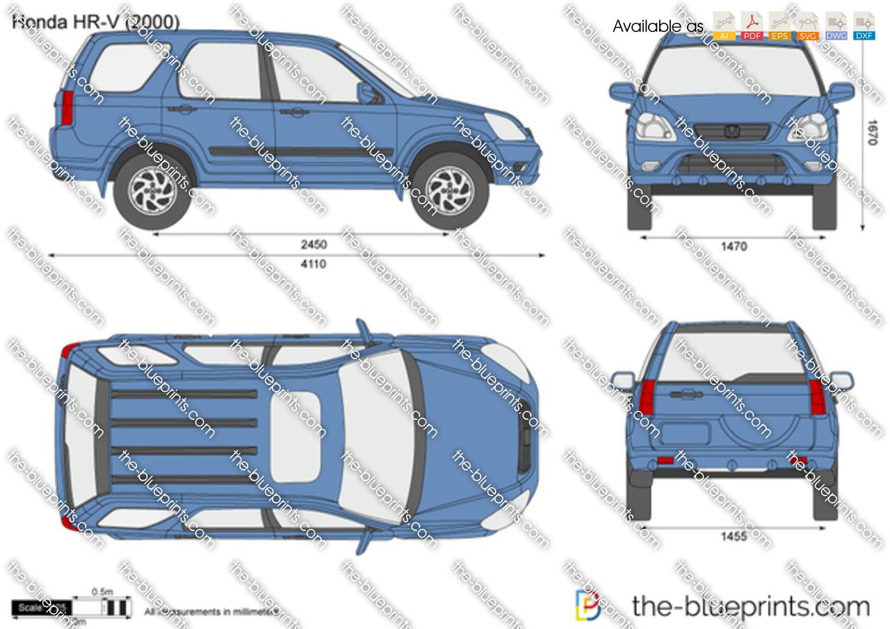 The Blueprints Com Vector Drawing Honda Hr V