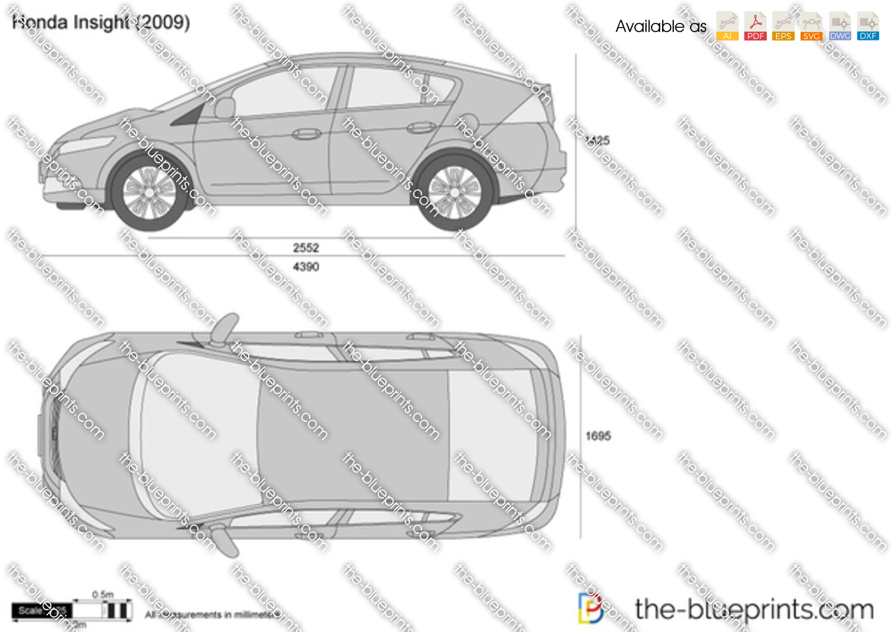Honda Insight Vector Drawing