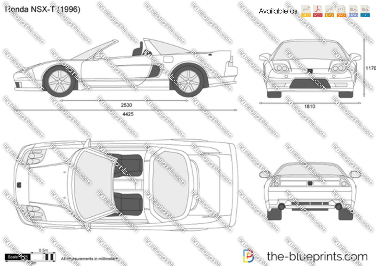 blueprintscom vector drawing honda nsx