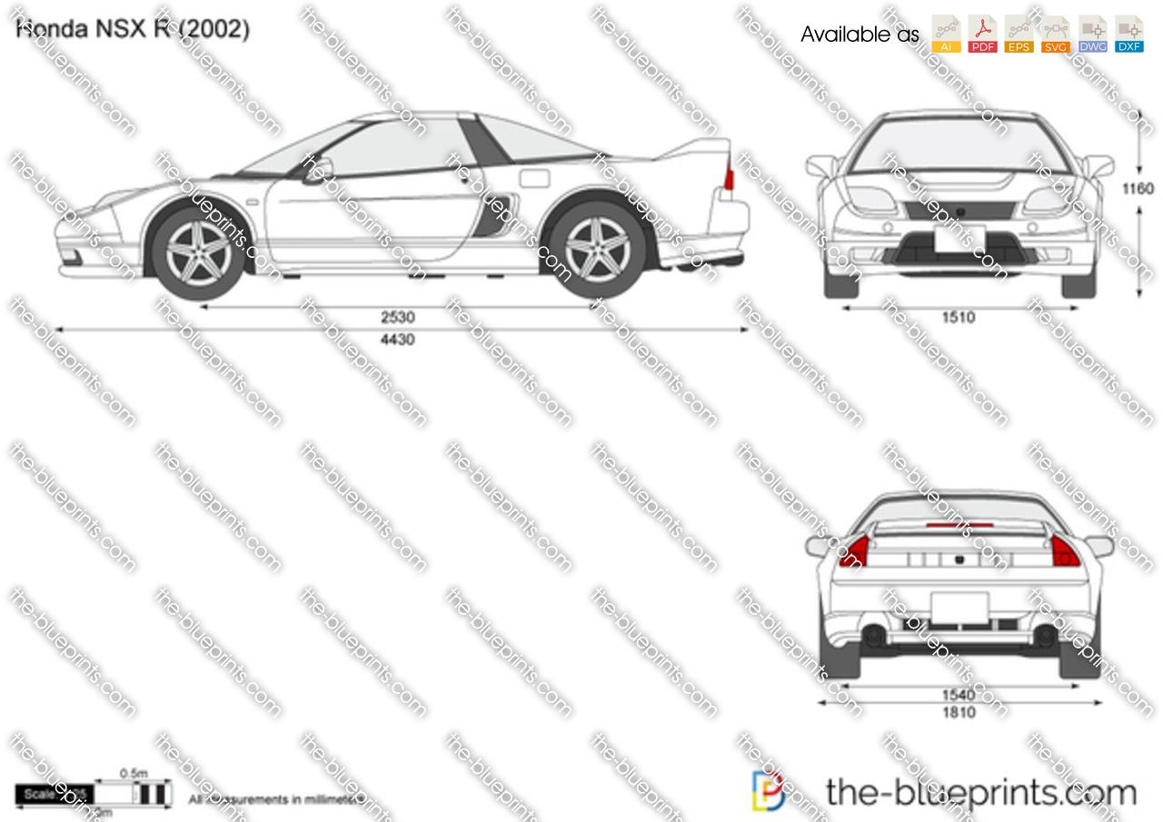 Honda Nsx R Vector Drawing