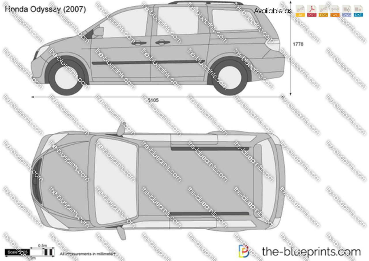 Honda Odyssey Vector Drawing