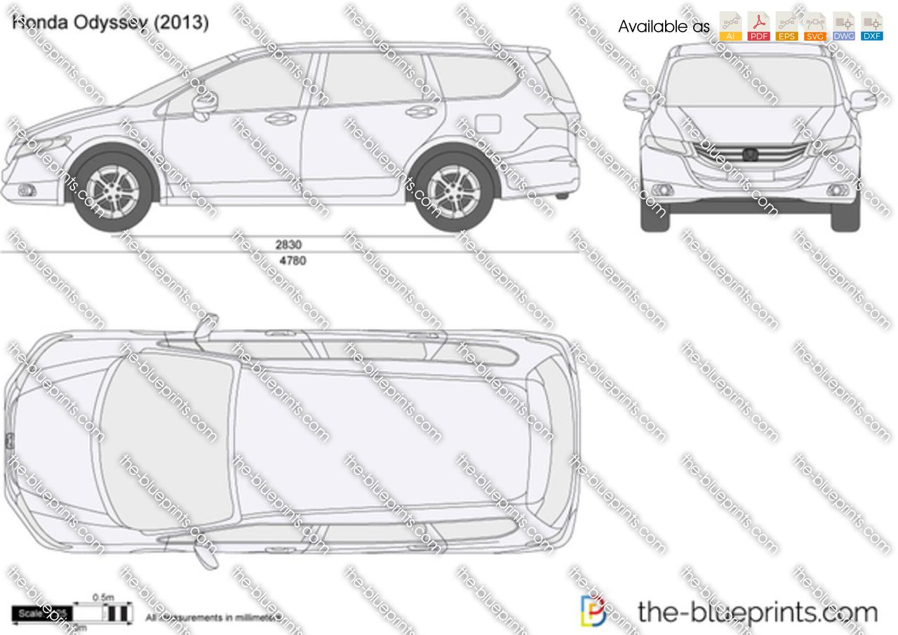 the blueprints     vector drawing   honda odyssey
