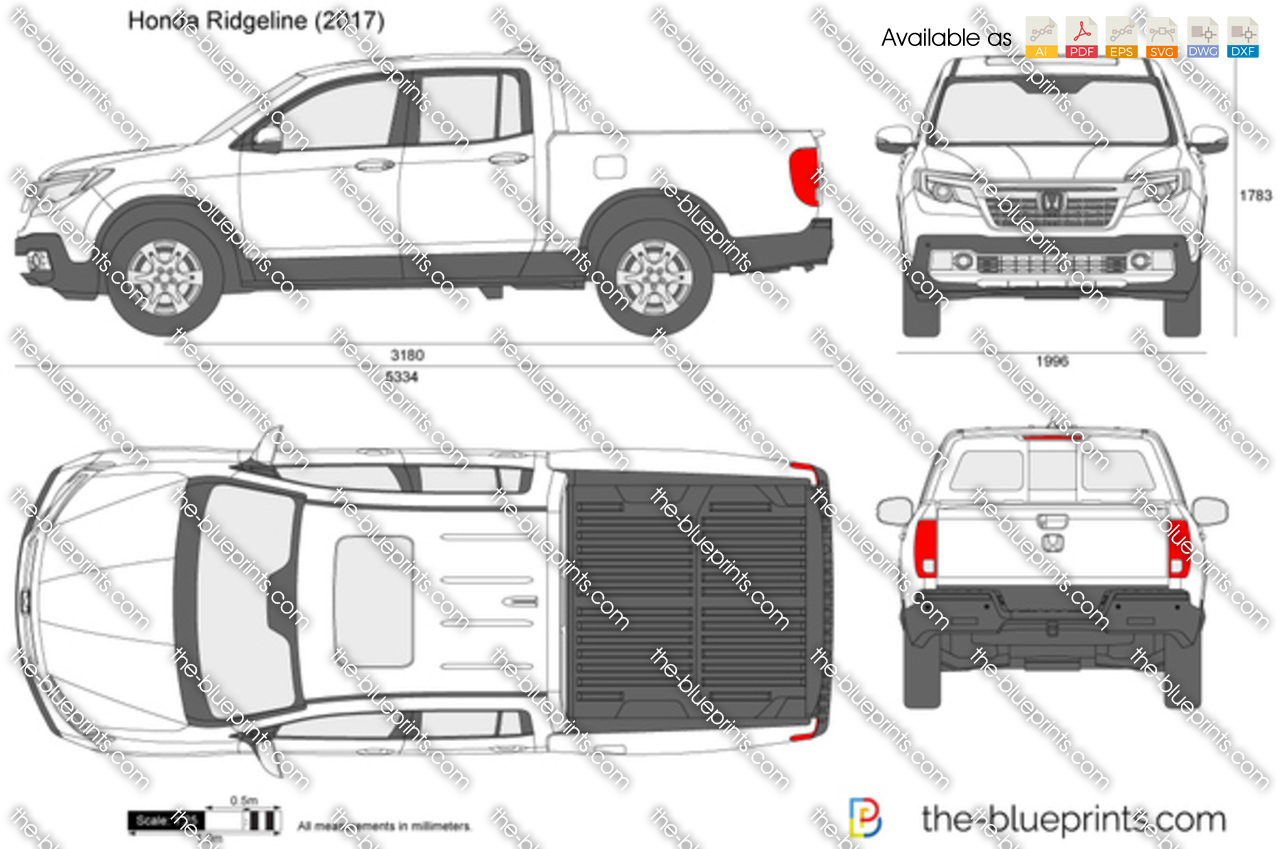 F150 Bed Dimensions >> Honda Ridgeline vector drawing