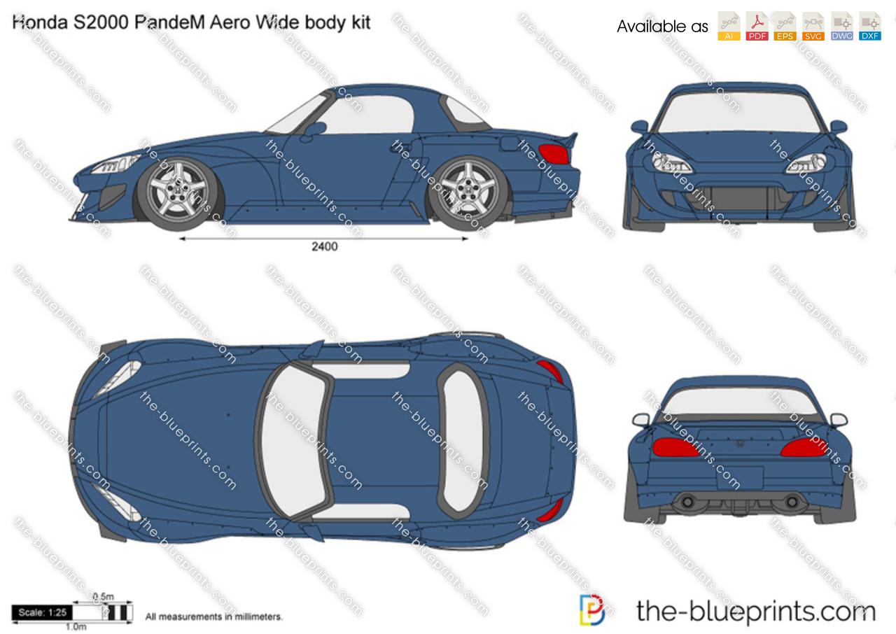 Honda S2000 PandeM Aero Wide body kit