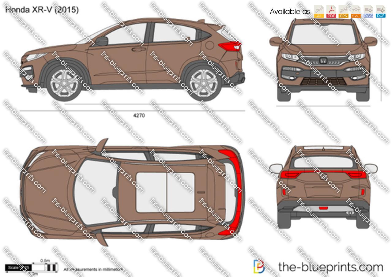 Honda XR-V vector drawing