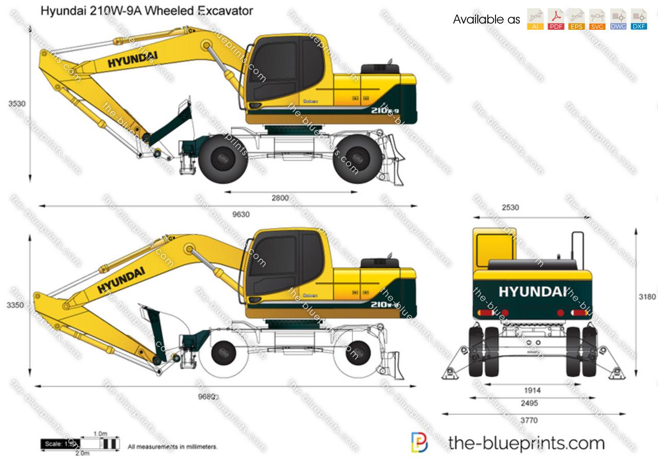 Hyundai 210W-9A Wheeled Excavator