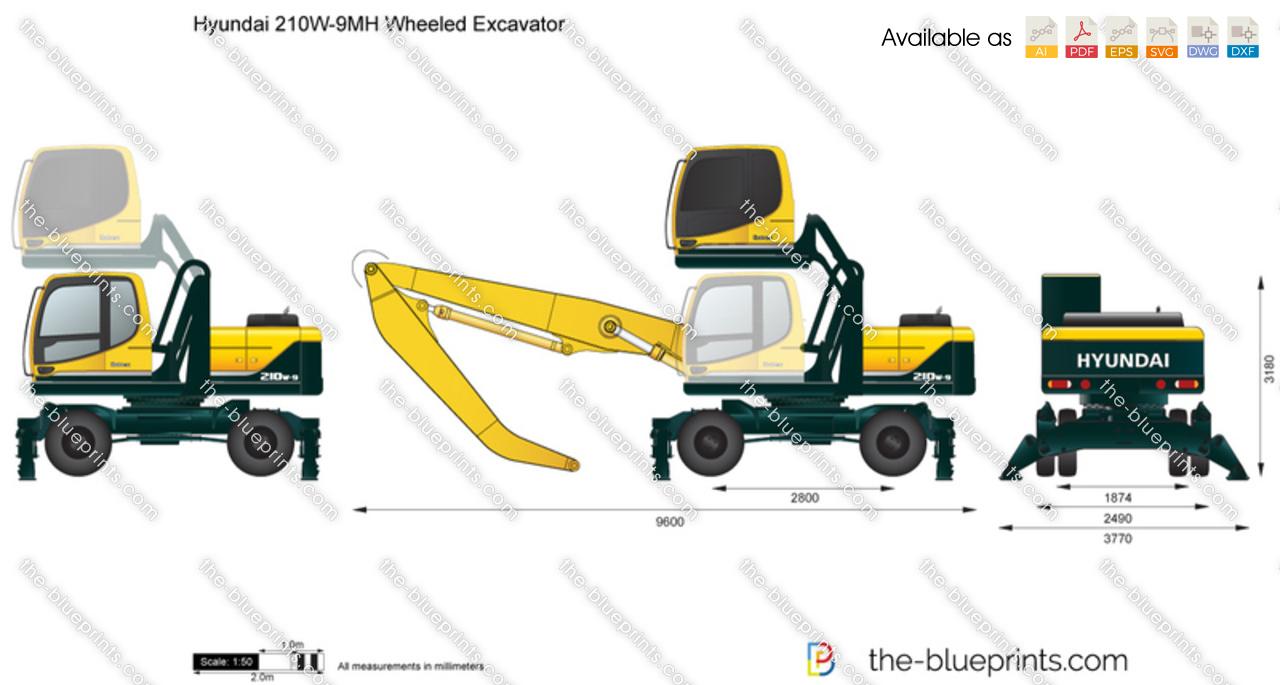 Hyundai 210W-9MH Wheeled Excavator