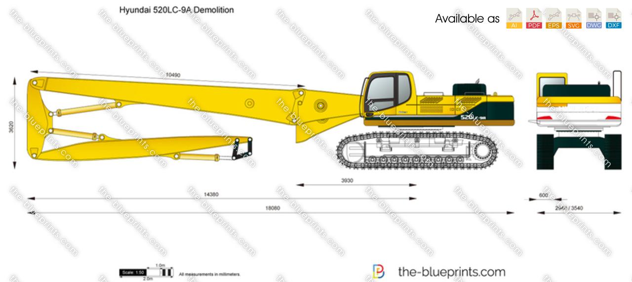Hyundai 520LC-9A Demolition