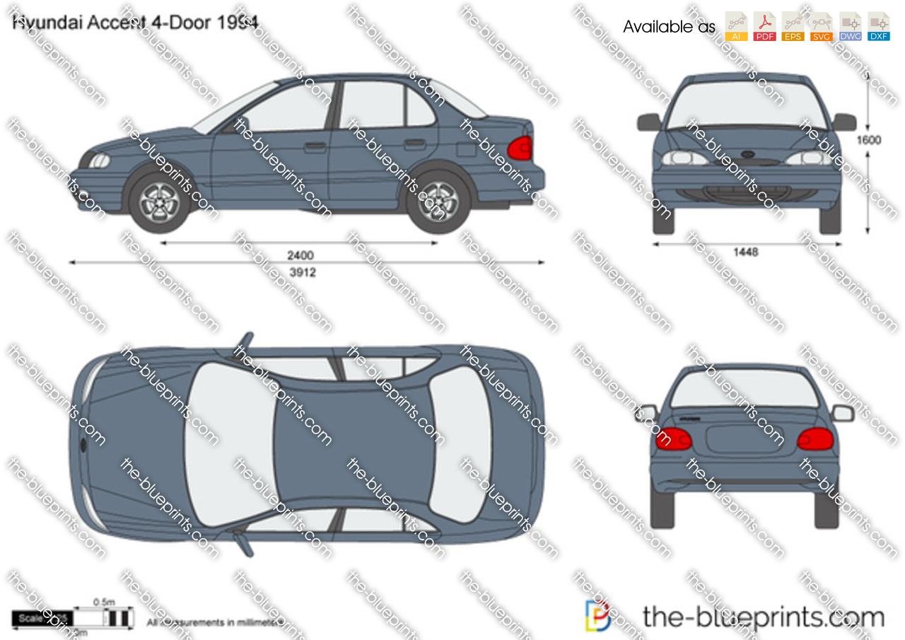 Hyundai Accent 4-Door 1996