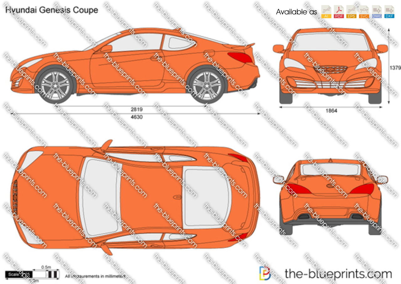 The Blueprints Com Vector Drawing Hyundai Genesis Coupe