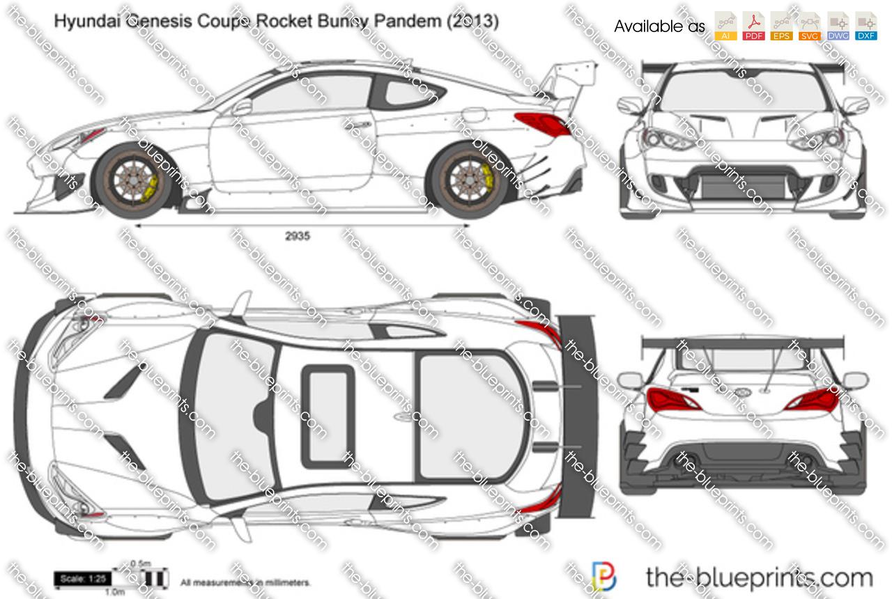 Hyundai Genesis Coupe Rocket Bunny Pandem