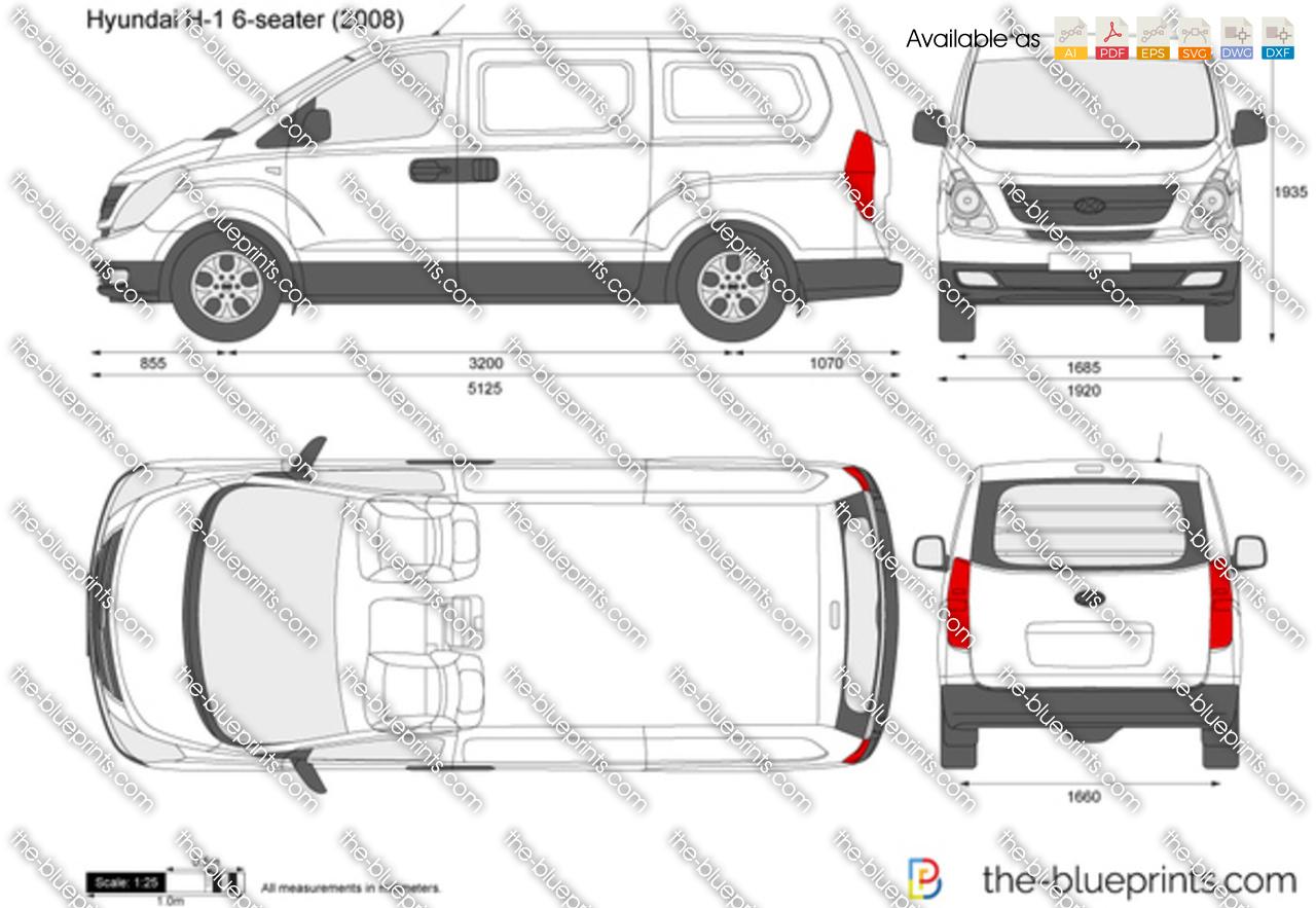 The-Blueprints.com - Vector Drawing - Hyundai H-1 6-seater ...