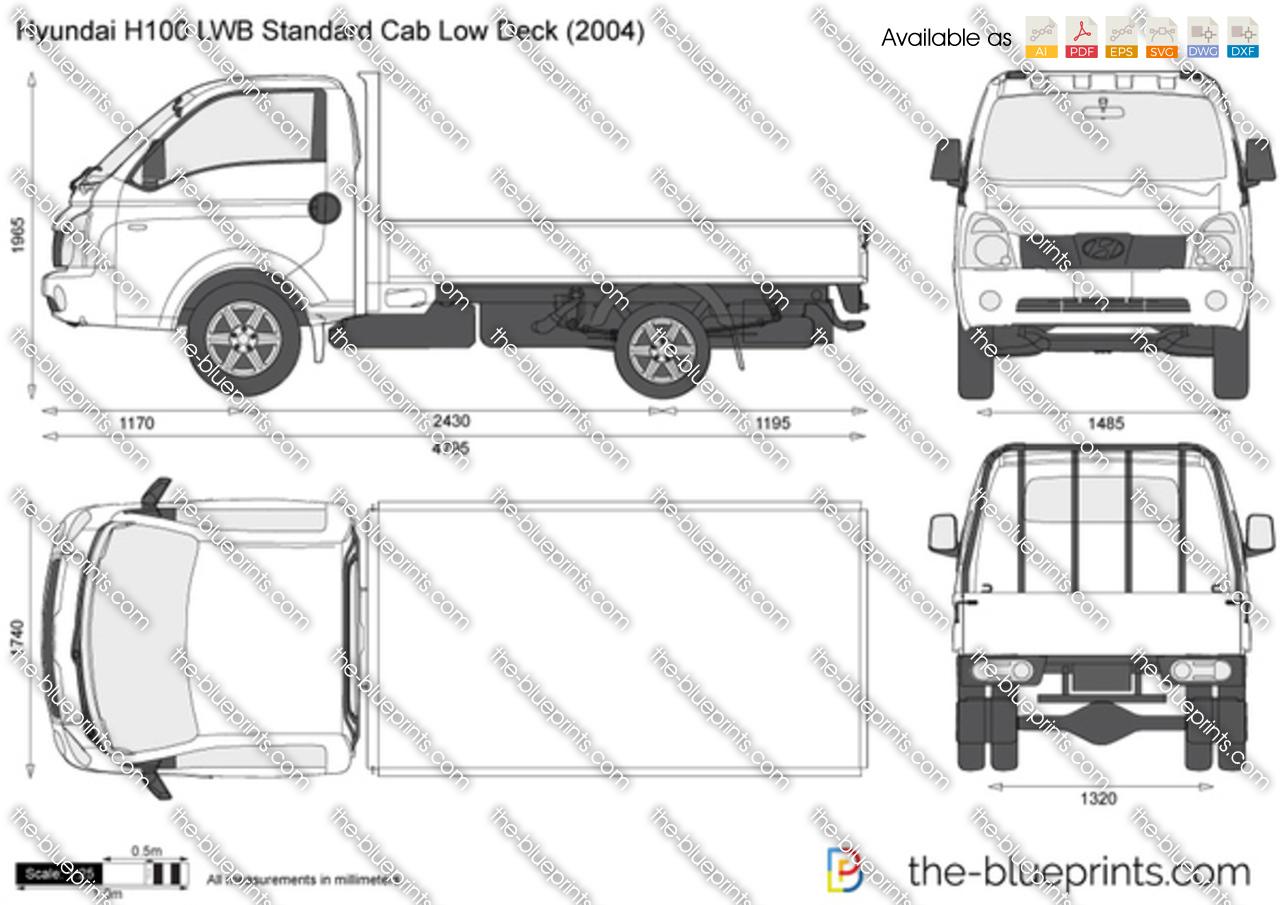 Hyundai H100 LWB Standard Cab Low Deck