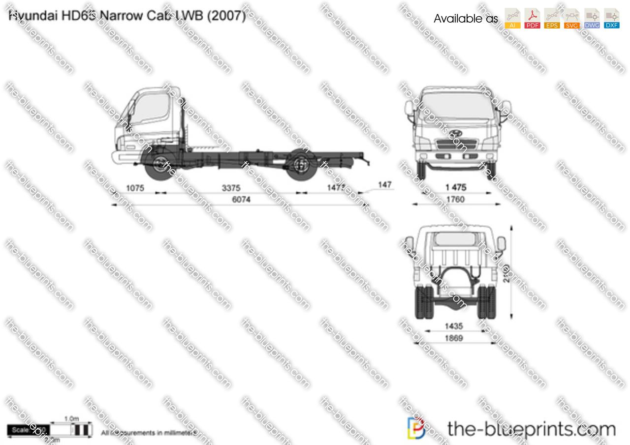 Hyundai HD65 Narrow Cab LWB
