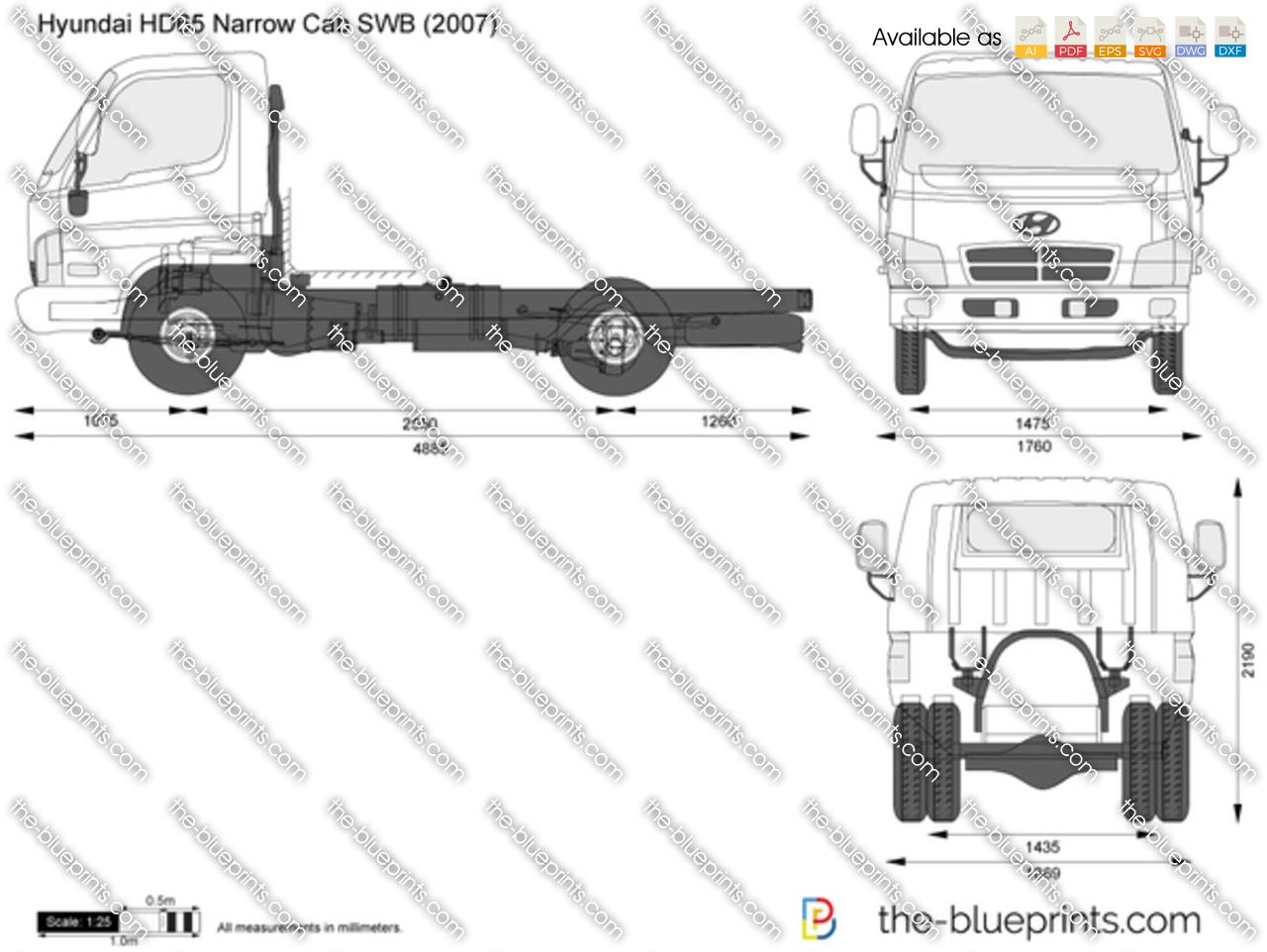 Hyundai HD65 Narrow Cab SWB