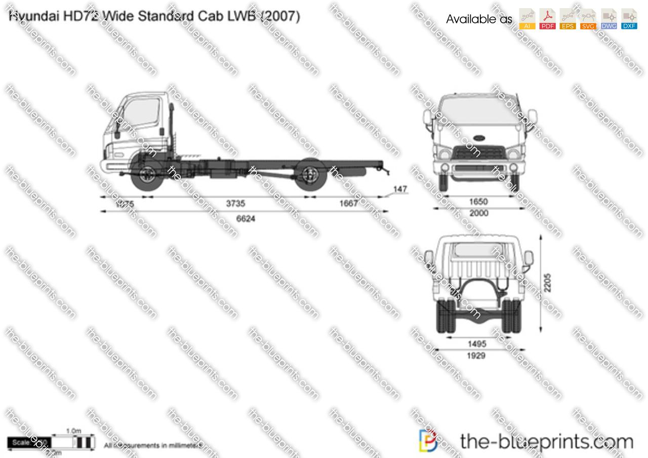 Hyundai HD72 Wide Standard Cab LWB