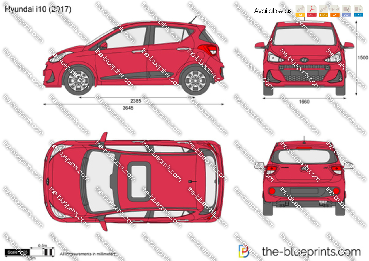 The Blueprints Com Vector Drawing Hyundai I10