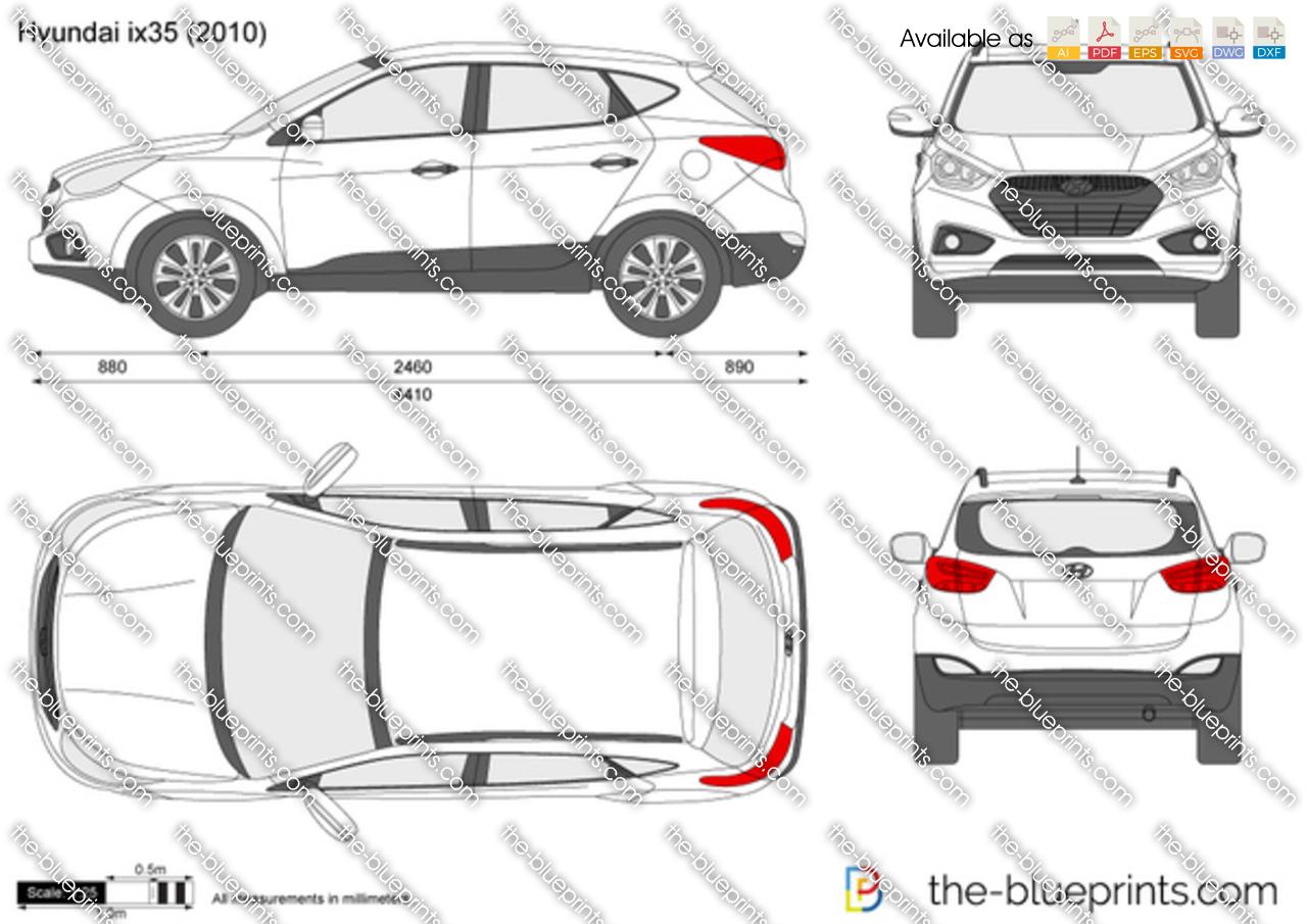 hyundai ix35 tucson vector drawing. Black Bedroom Furniture Sets. Home Design Ideas