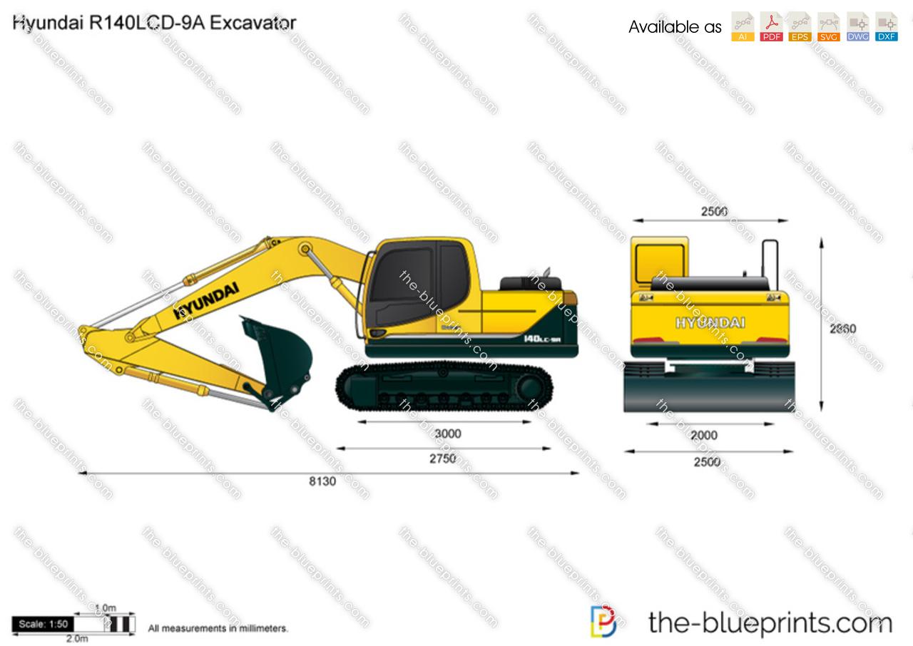 Hyundai R140LCD-9A Excavator