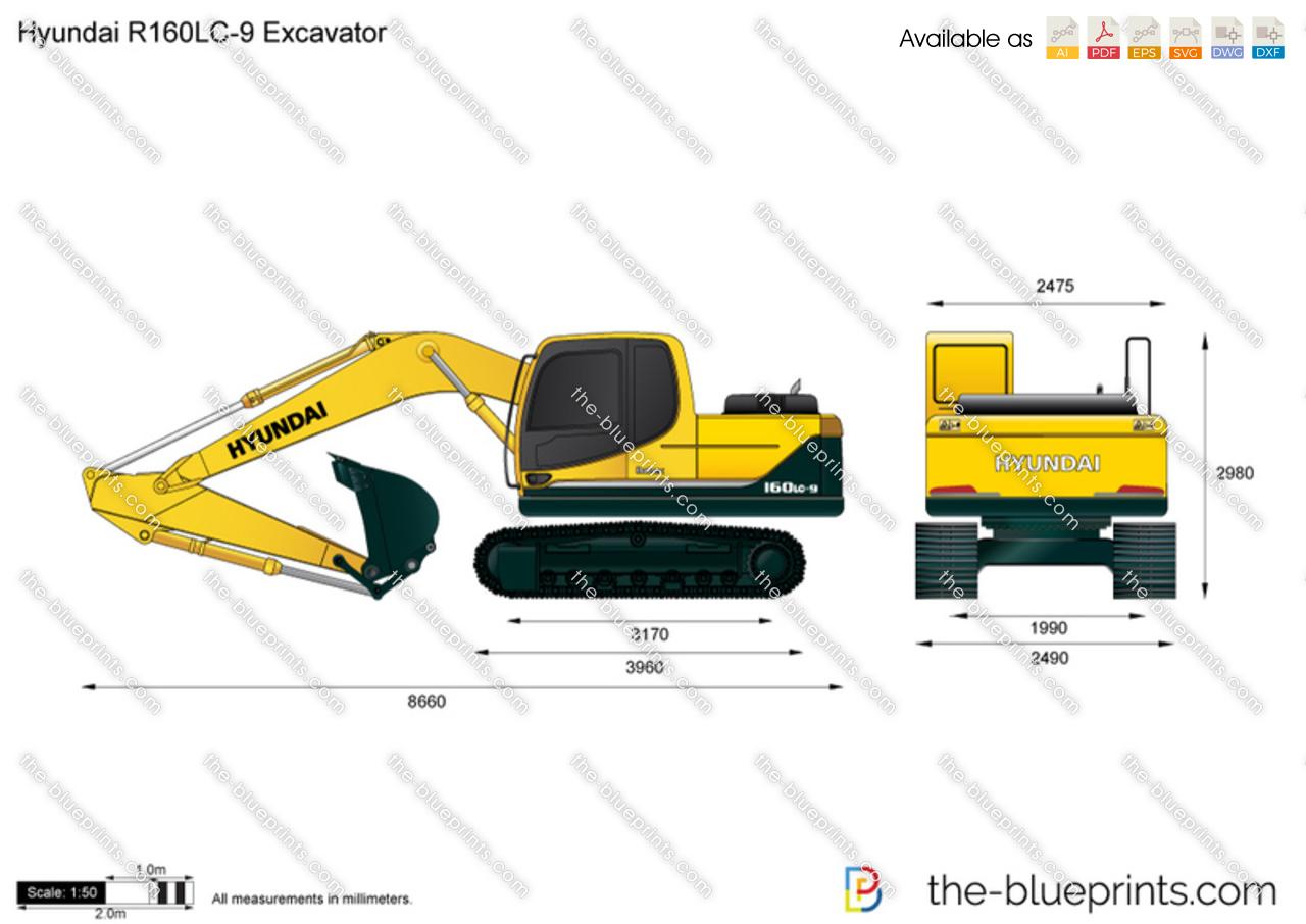 Hyundai R160LC-9 Excavator