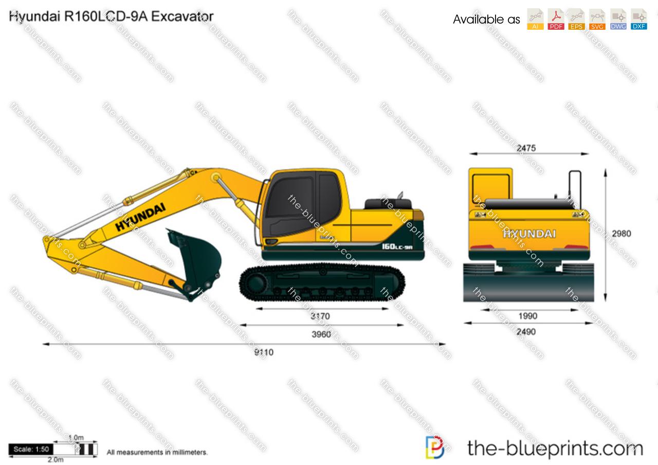 Hyundai R160LCD-9A Excavator
