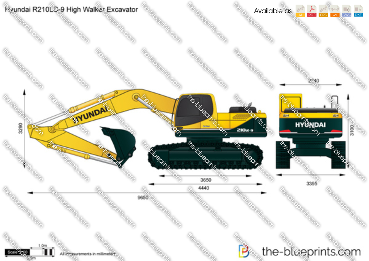 Hyundai R210LC-9 High Walker Excavator