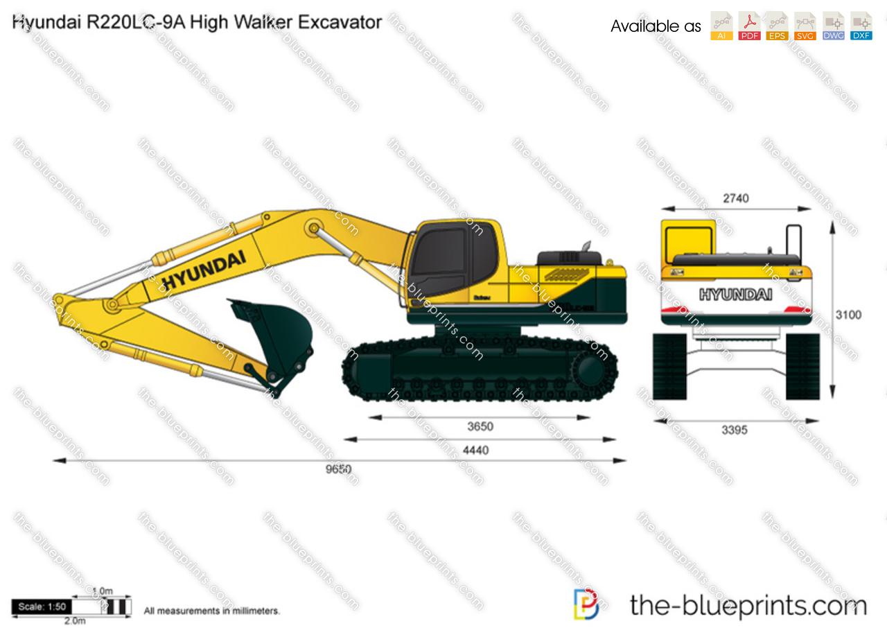 Hyundai R220LC-9A High Walker Excavator