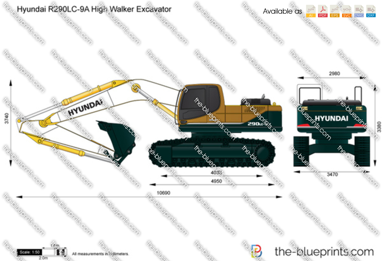 Hyundai R290LC-9A High Walker Excavator
