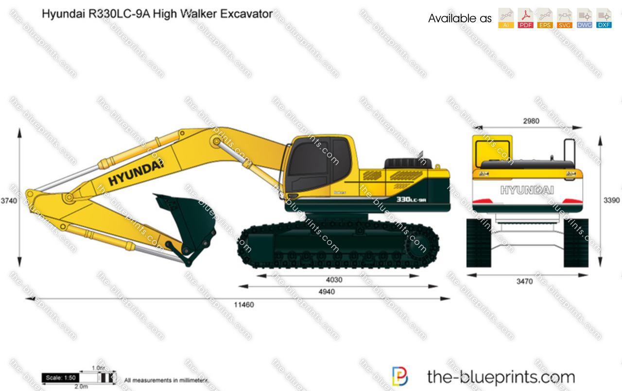 Hyundai R330LC-9A High Walker Excavator