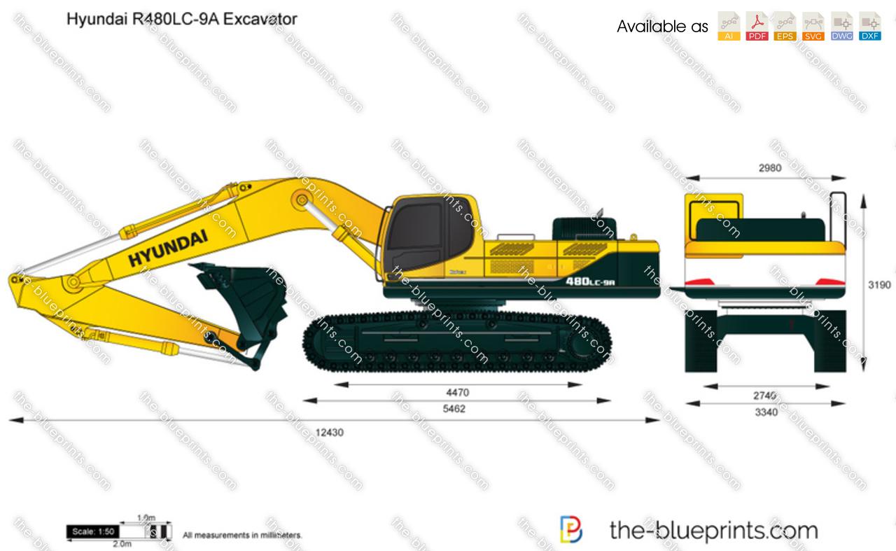 Hyundai R480LC-9A Excavator