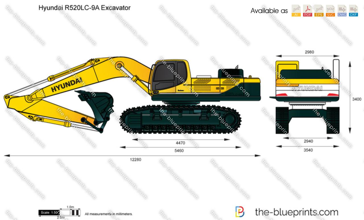 Hyundai R520LC-9A Excavator