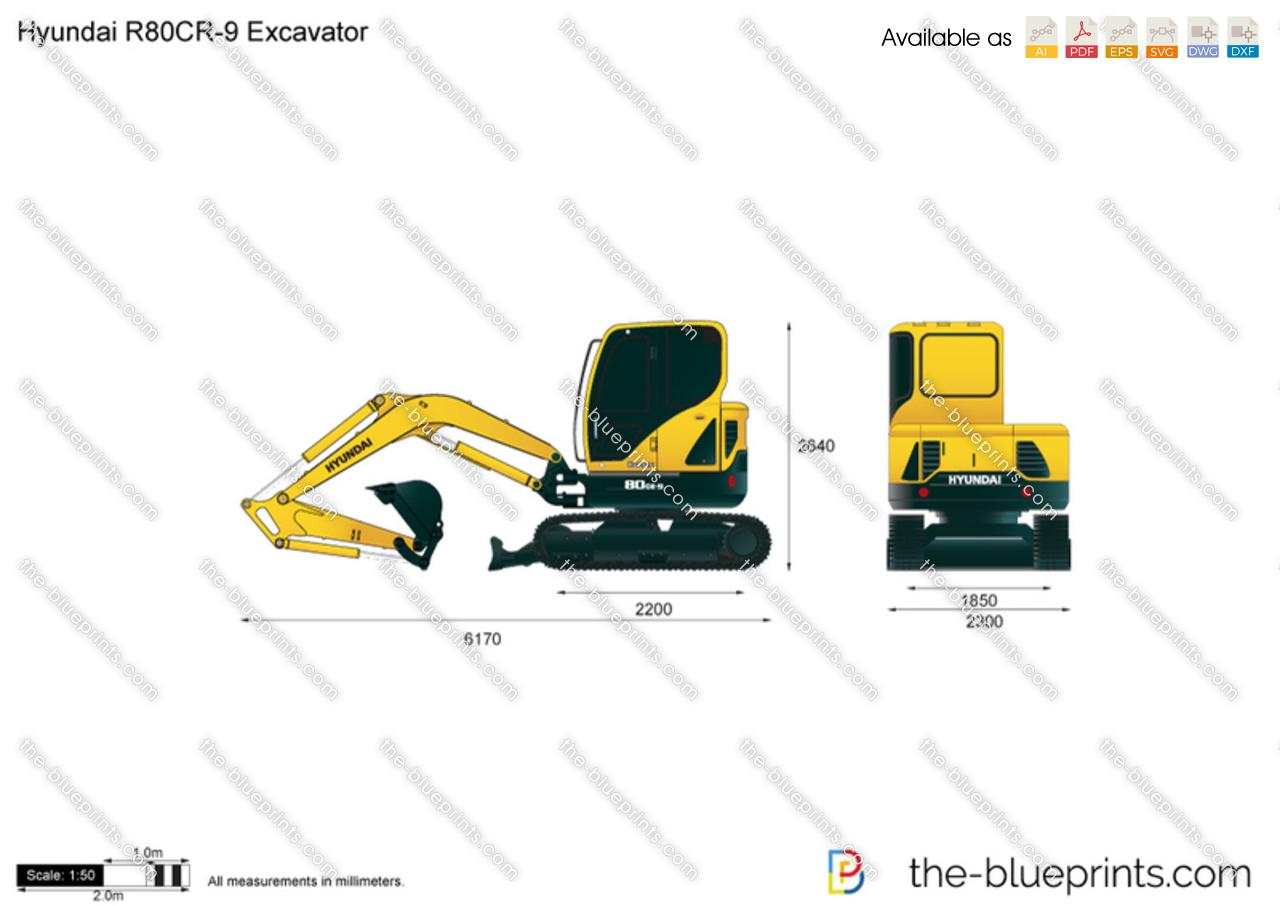 Hyundai R80CR-9 Excavator