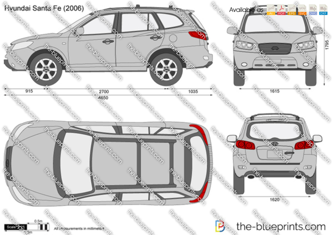 The Blueprints Com Vector Drawing Hyundai Santa Fe