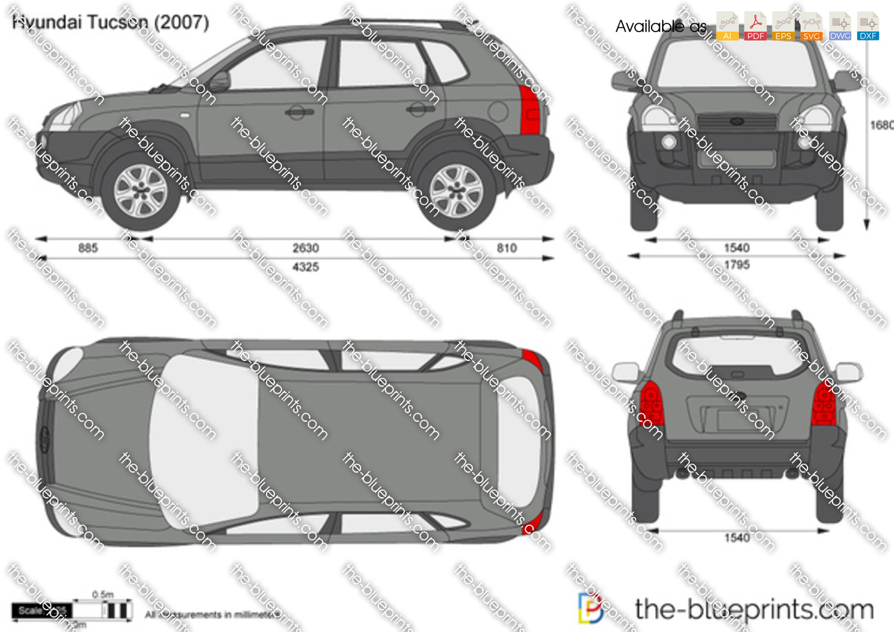 the vector drawing hyundai tucson. Black Bedroom Furniture Sets. Home Design Ideas