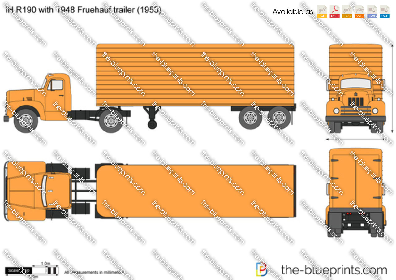 IH R190 with 1948 Fruehauf trailer