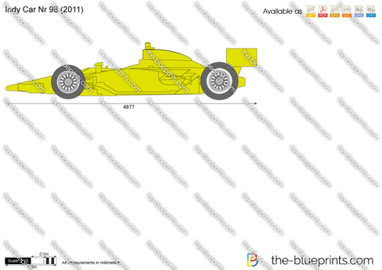 Indy Car Nr 98 Vector Drawing