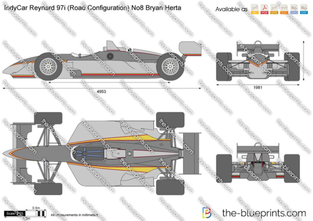 IndyCar Reynard 97i (Road Configuration) No8 Bryan Herta