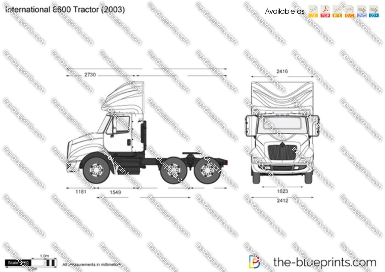 International 8600 Tractor 2009