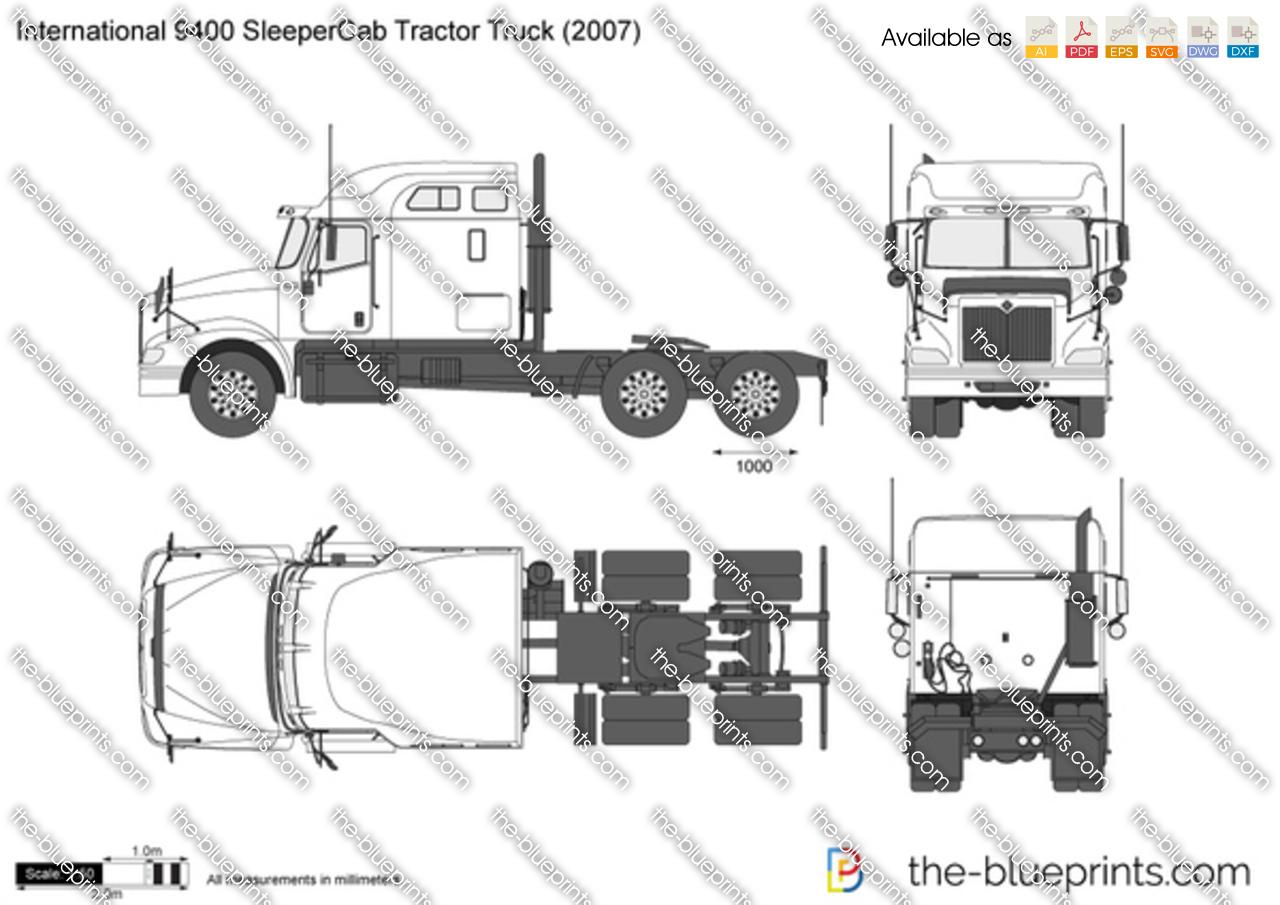 International 9400 SleeperCab Tractor Truck