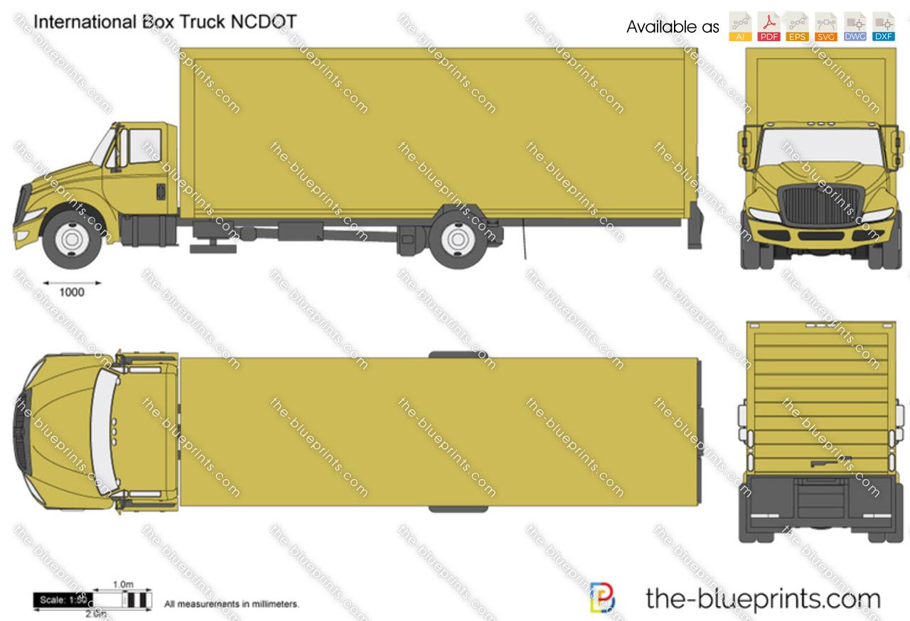International Box Truck NCDOT