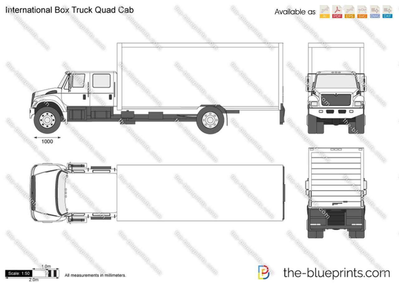 International Box Truck Quad Cab